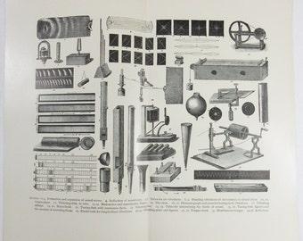 Original 1890's Print - Mechanical Sound Instruments