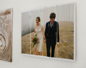 Own photo on wood, custom photo gift, gift husband, gift wife, gift boyfriend, gift girlfriend, photo on wood