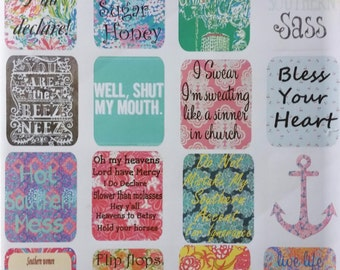 Southern Charm Sayings/Stickers/Planner Weekly Layout/ Planner Stickers for ECLP/ Filofax/Websters/Kikki/Happy Planner