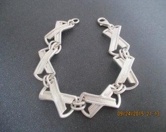 Link Bracelet..Sterling Silver..Unique...New..Solid..
