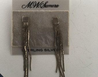"""M W Samara Sterling Silver earringPierced Dangle 2 1/2"""""""