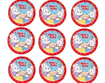 Max and Ruby cupcake topper