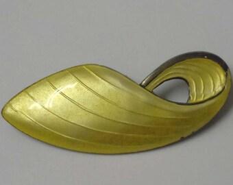 Volmer Bahner Denmark Sterling Silver Gold Enamel 20th Century Modern Brooch