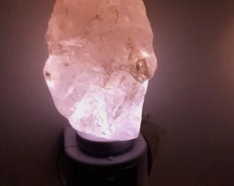 Automatic Sensor Rose Quartz LED Gemstone Nite Light//Geode Nite Light