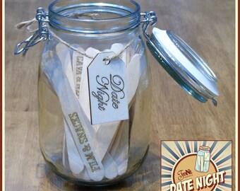 Personalised Date Night Jar Gift SeT