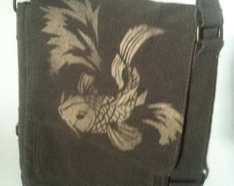 Koi fish Military Tech Bag Bleach Design