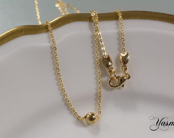 Gold plated 925 beads on vintag Anklet