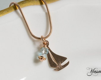 Ahoy with Topaz rose gold plated