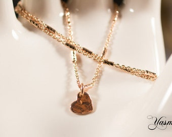 Sweetheart rose gold plated