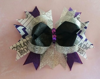 Colorado Rockies Bling Stacked Bow