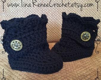 Crochet Ugg Style Baby Boots