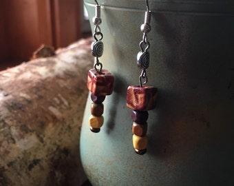 Wooden Dangle Earring