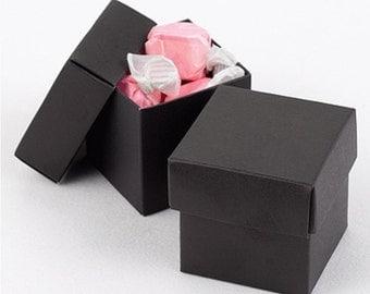 Black Favor Boxes (Pack of 25) Wedding Favors