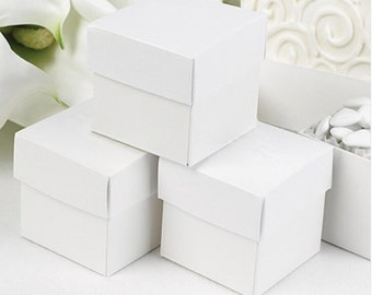 White Favor Boxes (Pack of 25) Wedding Party Favors