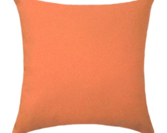 Orange Pillow Cover - Solid Orange Pillow Cover - Solid Orange Throw Pillow - Fall Accent Pillow Cover - Solid Orange Cushion Cover