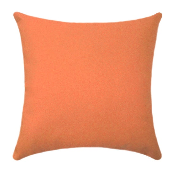 Items similar to Orange Pillow Cover - Solid Orange Pillow Cover - Solid Orange Throw Pillow ...