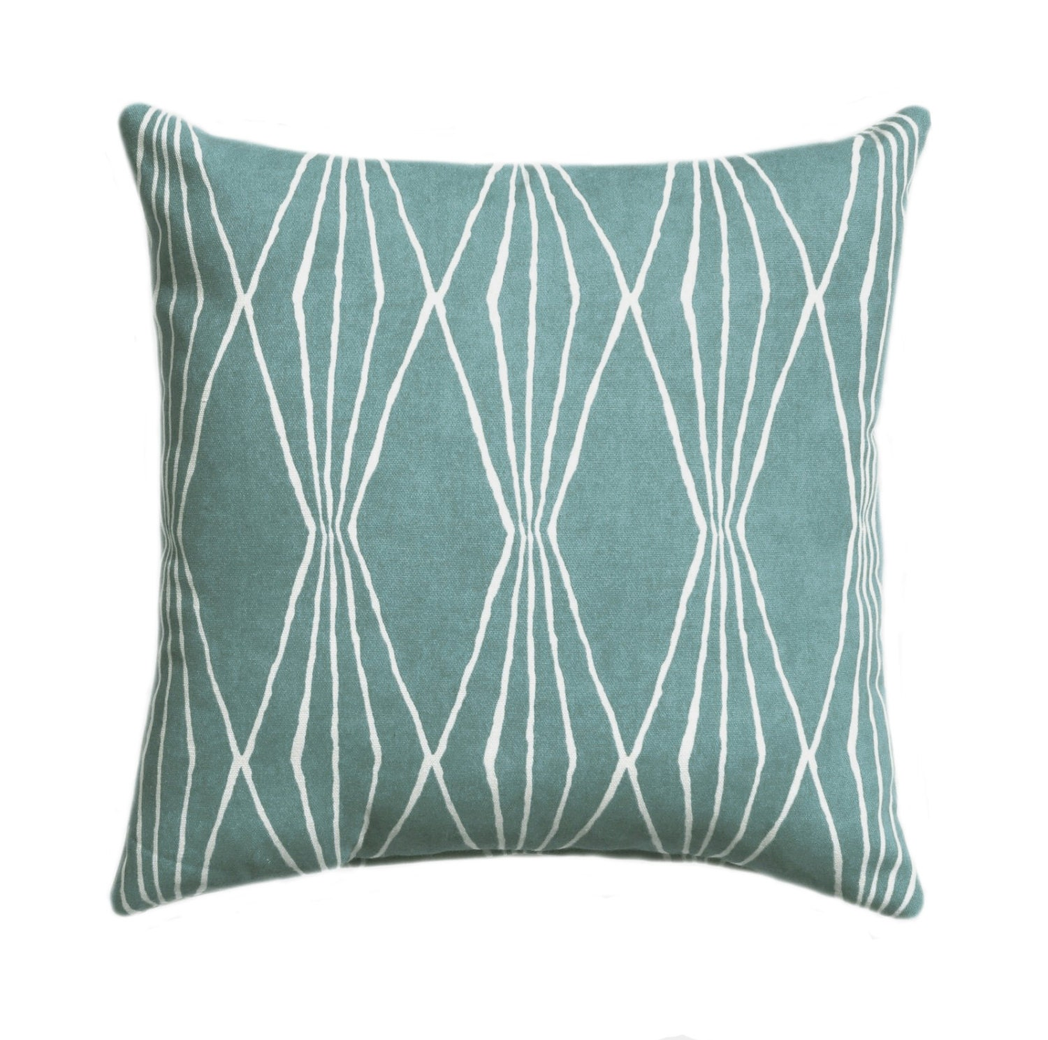 Robert Allen Handcut Shapes Rain Geometric Decorative Pillow