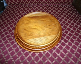 Mid Century, Walnut, Wood Nesting, Platter, Walnut Snack Tray, Wooden Cake Plates, Home Decor, Gift for Her, Farmhouse, Country Cottage