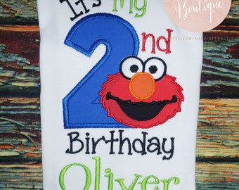 It's My 2nd Birthday Elmo Embroidered Shirt
