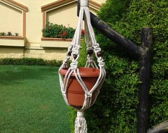 Natural macrame plant hanger,pot holder,hanging planter/indoor/outdoor,birdfeeder, cotton rope planter,
