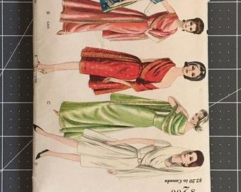 Vintage Sewing Pattern: Vogue #5624 (1960s Sari-inspired Dress)
