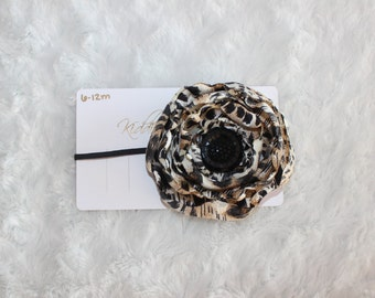 Silk Flower Headband 6-12M