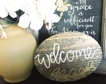 Welcome Wooden Sign - Rustic Home Decor - First-Time Homebuyers Gift - Wedding Gift - Housewarming Gift