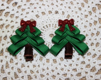 Christmas Tree Piggie Bows