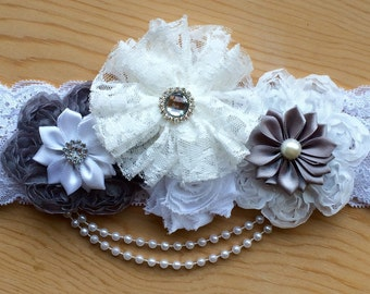 Vintage lace headband for baby girls
