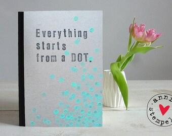 """Notebook sketchbook - """"dots"""", compose, DIN A5"""