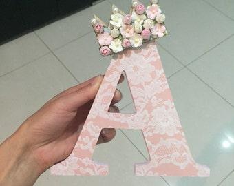 lace vintage letter