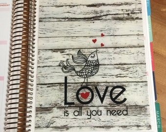 "DASHBOARD Valentine's Day ""Love is all you need"" for use with Erin Condren or Happy Planner"