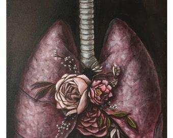 "Lungs - 8.5"" x 11"" art print"