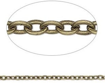 Antique Brass Necklace Chain Add-on