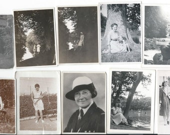 Lovely Collection of 20 Vintage 1920s - 1940s British Black and White Photographs of People