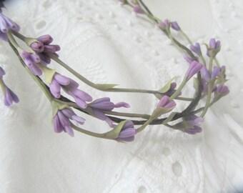 Bridal lavender flower headband Wedding headpiece  Provence accessories Wedding lavander flower crown Bridal boho chic
