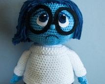 PATTERN crocheted Disney Inside Out Sadness