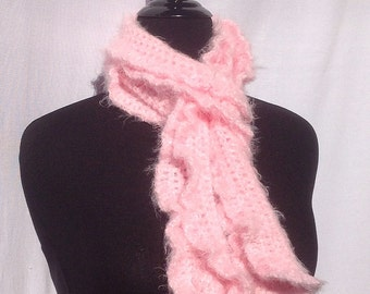 Romantic Ruffles Scarf in Soft Baby Pink