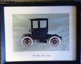 1906 Cadillac Model T, painting framed