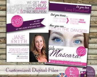 SALE UK Custom Make Up Blitz Card Design   United Kingdom GBP   Customer Postcard   Digital File   Direct Sales Small Business Tools