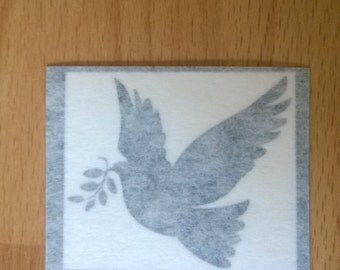 SALE DECALS - Dove of Peace  - Wall Art - Decal - Sticker - 4.1cm x 4.8cm - Black - Only 15 Available Walls Laptops Doors Tablets Phones