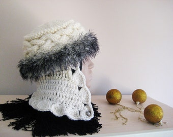 Ladies Trapper Hat Handmade hat Winter hat Warm hat Modern hat Woman Clothing Accessories for winter Christmas gift for woman