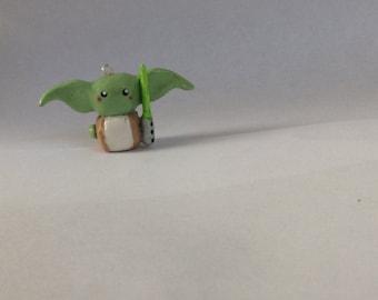 Kawaii Yoda charm