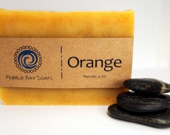 Orange Essential Oil Soap - Natural Soap - Handmade Soap - Cold Process Soap