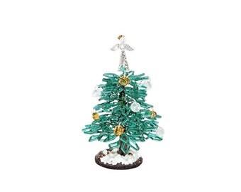 95cm beaded tiny turquoise christmas tree with angel topper ornaments handmade christmas - Tiny Christmas Tree