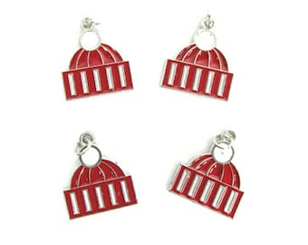 Winter Red Hat Charms ~ Christmas Charms ~ Holiday Charms | Jewelry Charms | Bracelet Charms | Necklace Charms