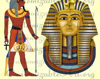 Egyptian Clipart Digital Egyptian Clip Art Egyptian Pharaoh Egypt King Tutankhamun King Tut Scrapbook Hieroglyphs Images Graphics Pictures
