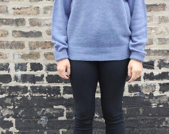 Pale Blue Vintage Grandpa Sweater