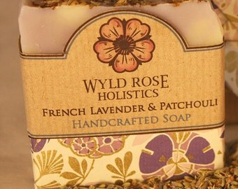 Lavender and Patchouli Handcrafted Soap