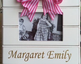 Frames Personalized with Pink or Blue Bow